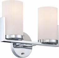 Lite Source LS-16812 Caesarea Contemporary Chrome 2-Light Bathroom Sconce