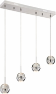 Lite Source LS-18195 Chrome LED Multi Pendant Light Fixture