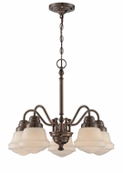 Lite Source LS-18742 Towne Antique Copper Mini Chandelier Light