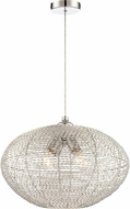 Lite Source LS-18998 Faviola Modern Chrome 18  Pendant Light