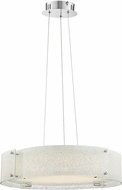 Lite Source LS-19420DIAMOND Kaelin Contemporary Chrome LED Drum Pendant Lamp