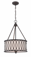 Lite Source LS-19729 Tacey Dark Bronze Drop Ceiling Light Fixture