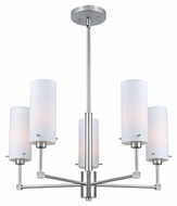 Lite Source LS-19755 Scarlett Contemporary Polished Steel Finish 21  Wide Mini Chandelier Lighting