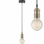 Lite Source LS-19830AB Umar Vintage Antique Brass Mini Ceiling Pendant Light