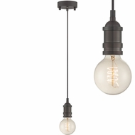 Lite Source LS-19830AGEDCP Umar Retro Aged Copper Mini Drop Ceiling Light Fixture