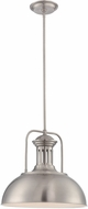 Lite Source LS-19922PS Efren Retro Polished Steel Pendant Lighting