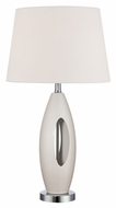 Lite Source LS-21861IVY Nakia II Ivory Body, Chrome Table Lamp Contemporary