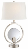 Lite Source LS-22293 Lexie Contemporary Polished Steel Finish 18  Wide Fluorescent / LED Table Lamp Lighting