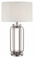 Lite Source LS-22295 Jairus Polished Steel Contemporary 18  Wide Bed Lamp