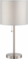 Lite Source LS-22304 Sebille II Polished Steel Finish 24  Tall Table Lamp