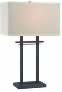 Lite Source LS-22384 Leverett Modern Aged Bronze Fluorescent Table Lighting