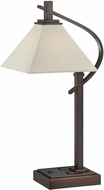 Lite Source LS-22406 Monterey Dark Bronze Finish 26.5  Tall Table Lamp Lighting