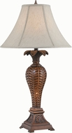 Lite Source LS-22408 Mahalo Dark Walnut Table Lamp Lighting