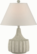 Lite Source LS-22425 Aiea Brushed Antique White Fluorescent Table Light