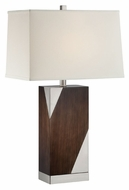 Lite Source LS-22435 Ellison Modern Polished Steel Finish 27.5  Tall Table Lamp Lighting