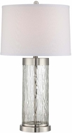 Lite Source LS-22446 Enrico Contemporary Polished Steel Finish 16  Wide LED Accented Table Top Lamp