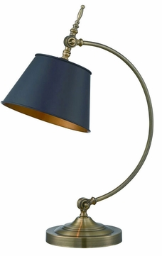 Lite Source LS-22450 Hassan Polished Brass Fluorescent Lighting Table Lamp