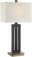 Lite Source LS-22452 Wyman Dark Bronze Finish 15  Wide Table Lighting