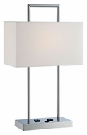 Lite Source LS-22473 Jaymes Contemporary Chrome Finish 15  Wide Lighting Table Lamp