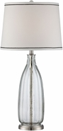 Lite Source LS-22502 Eileen Modern Polished Steel Finish 30.5 Tall Side Table Lamp