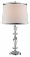 Lite Source LS-22506 Lucasta Contemporary Chrome Finish 13  Wide Table Lamp Lighting