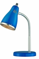 Lite Source LS-22535BLU Kris Contemporary Chrome Fluorescent Craft Lamp