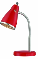 Lite Source LS-22535RED Kris Contemporary Chrome Fluorescent Task Lamp