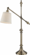 Lite Source LS-22537 Napoli Antique Bronze Finish 8  Wide Desk Lamp