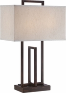 Lite Source LS-22542 Farren Dark Bronze Finish 26.5  Tall Table Top Lamp