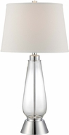 Lite Source LS-22546 Danya Contemporary Polished Steel Finish 16  Wide Table Lamp