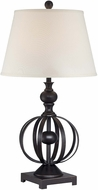 Lite Source LS-22558 Marquette Dark Bronze Finish 32  Tall Lighting Table Lamp