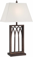 Lite Source LS-22561 Cambridge Antique Rust Finish 16  Wide Side Table Lamp