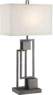 Lite Source LS-22564 Volterra Modern Antique Silver Finish 30.5  Tall Lighting Table Lamp