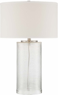 Lite Source LS-22575 Senza Contemporary Polished Steel Finish 18 Wide Lighting Table Lamp