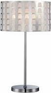 Lite Source LS-22600 Marciano Modern Chrome Finish 13.5  Wide Table Top Lamp