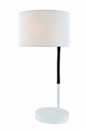 Lite Source LS-22623 Gillian Contemporary White Fluorescent Table Top Lamp
