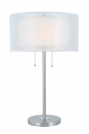Lite Source LS-22626 Modern Polished Steel Fluorescent Side Table Lamp