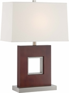 Lite Source LS-22699 Kerry Contemporary Polished Steel Finish 26 Tall Side Table Lamp