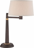 Lite Source LS-22764 Burnished Bronze Fluorescent Table Lighting