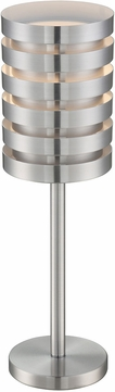 Lite Source LS-22923ALU Contemporary Aluminum Fluorescent Side Table Lamp