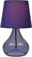 Lite Source LS-22960PURP Modern Purple Fluorescent Table Lamp Lighting