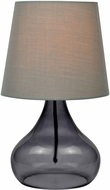 Lite Source LS-22960SMOKE Contemporary Smoke Fluorescent Table Top Lamp