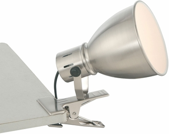Lite Source LS-23005 Kiefer Contemporary Brushed Nickel Fluorescent Clip On Light