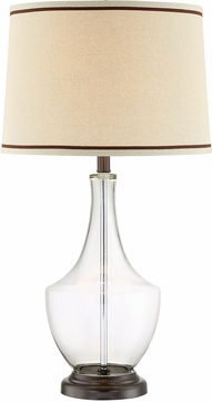 Lite Source LS-23012 Caroline Dark Bronze Fluorescent Lighting Table Lamp