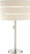 Lite Source LS-23037 Falan Contemporary Brushed Nickel Table Lamp Lighting