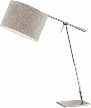Lite Source LS-23050 Lucilla Contemporary Brushed Nickel Desk Lamp