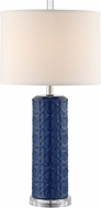 Lite Source LS-23055BLU Hackett Ceramic Blue Lighting Table Lamp