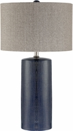Lite Source LS-23063BLU Jacoby Navy Blue Side Table Lamp