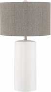 Lite Source LS-23063WHT Jacoby White Table Lamp