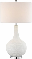 Lite Source LS-23072WHT Dylan White Table Lighting